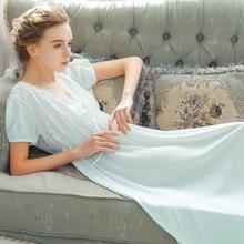 Roseheart Nữ Màu Hồng Xanh Dương Gợi Cảm Đồ Ngủ Đầm Ngủ Ren Hở Lưng Homewear Váy Ngủ Cao Cấp Váy Ngủ Áo Choàng Nữ