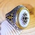 Винтажные классические кольца на палец, женские круглые овальные кольца из смолы с кристаллами Цезарь, античные этнические мужские свадебн...
