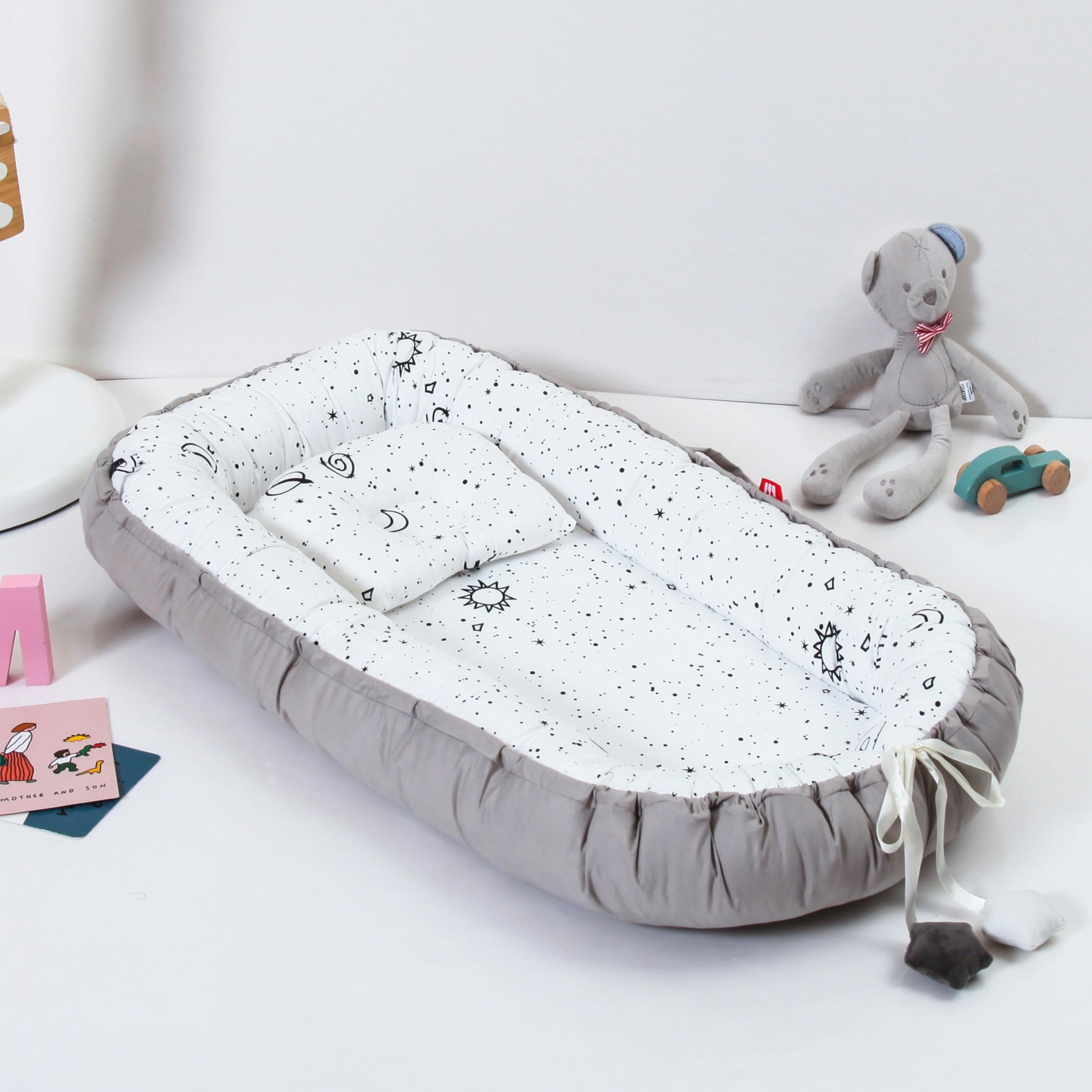 85X50cm Portable Baby Nest Newborn Crib Cradle Pillow Cushion Removable Bed Infant Cradle Cuna