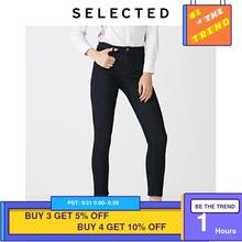 SELECTED Women Cotton Tight Denim Pants Casual Washed Skinny