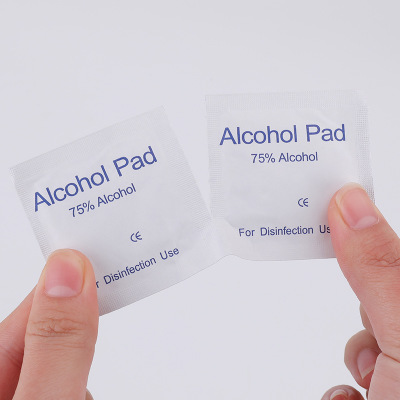 New 100PCS 75% Alcohol Pad Disposable Alcohol Cleaning Disinfection Wipes Mobile Phone Sterilize Alcohol Wipes Disinfectant