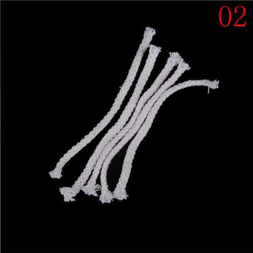 5 ピース/セット繊維ガラス耐熱灯油芯ボトルスアロマオイルキャンドルバーナーストーブ綿芯セラミックホルダートーチワインランプ