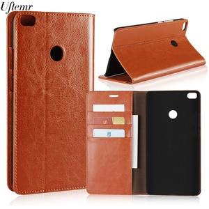 Image 2 - Luxury Vintage Genuine Leather For Xiaomi MI Max 2 Case Crazy Horse Skin Flip Wallet Cover Case For Xiaomi MI Max 2 Accessories