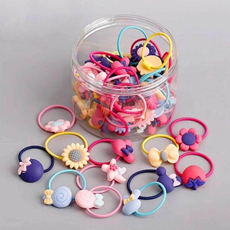 10Pcs Girl Hair Band Ties Rope Ring Elastic Hairband Ponytail