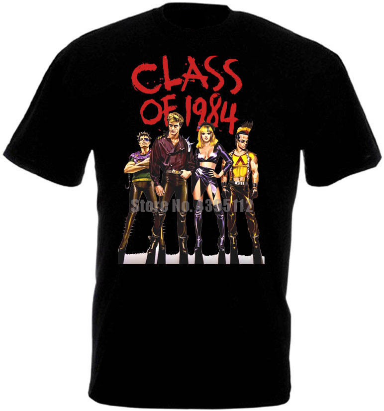 Class Of 1984 Movie Poster Mens T-Shirts Hip Hop Streetwear Tshirt Cool Logo Tshirts O Neck Tee Shirt Men Tops