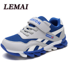 Kids Running Shoes Boys Sneakers Breathable Mesh Outdoor Sport Shoes Children Walking Shoes Basket Footwear Shoes