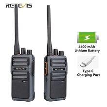 Walkie talkie retevis rb17/rb617, 2 peças, rádio uhf portátil de dois sentidos, estação de rádio pmr446 frs walkie talkie vox carregamento tipo c