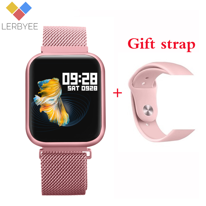 Lerbyee P80 Smart Watch Waterproof Heart Rate Monitor Fitness Watch Call Reminder Sport Smartwatch Sleep Monitor For IOS Android