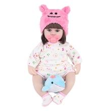 JULYS שיר 42CM תינוק Reborn בובות צעצועי בנות שינה ללוות בובת עם דולפין נמוך מחיר יפה יום הולדת