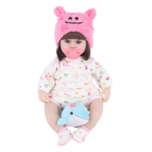 JULYS SONG 42CM Baby Reborn Dolls Toys For Girls Sleeping Accompany Doll With Dolphin Lower Price Beautiful  Birthday