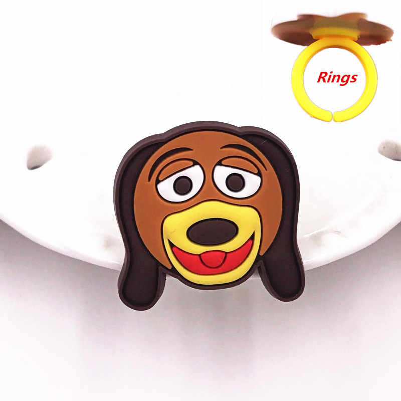 1 قطعة جديد وصول الحيوان الوحش سيليكون لينة PVC الكرتون البنصر للأطفال حزب هدايا ودي الغريبة الكلب الاصبع اكسسوارات