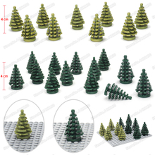 City Christmas Tree Building Blocks Decoration Accessories Set Diy Figures Street View Forest Model Moc Child Gift Toy