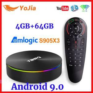 Amlogic S905X3 Android 9.0 TV BOX 4GB RAM 64GB ROM Set Top BOX Quad Core 2.4&5G Dual Wifi BT4.0 USB3.0 Google T95Q Media Player