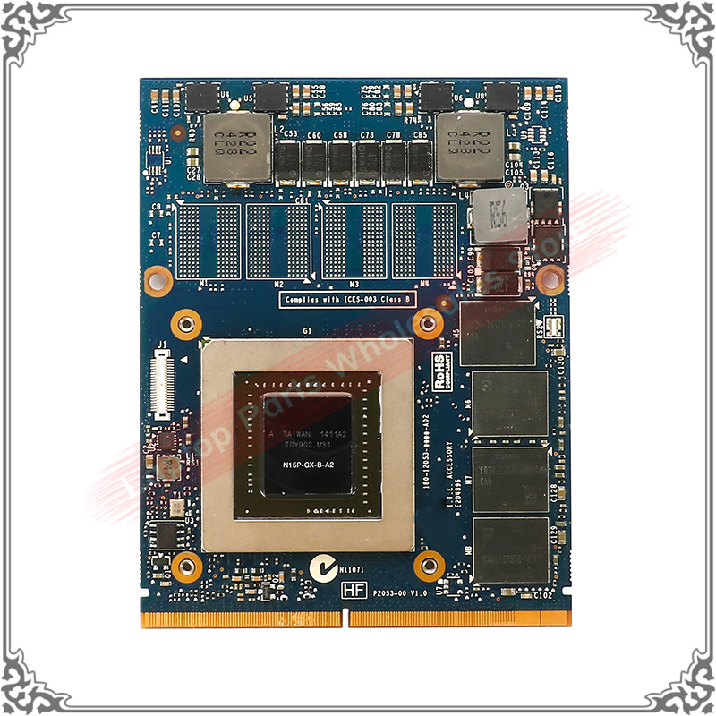 Origianl GTX860M GTX 860M N15P-GX-B-A2 MXM 3.0 DDR5 2G Laptop Video Graphic Card For DELL M15X M17X R4 R5 M18X R1 R2