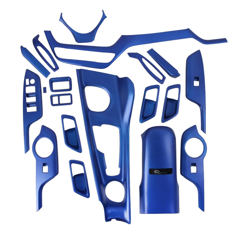 ABS Blue Color Whole Set Chrome Sticker For CH-R CHR 2016 2017 2018 2019 2020 Interior Accessories LHD Car Styling Accessories