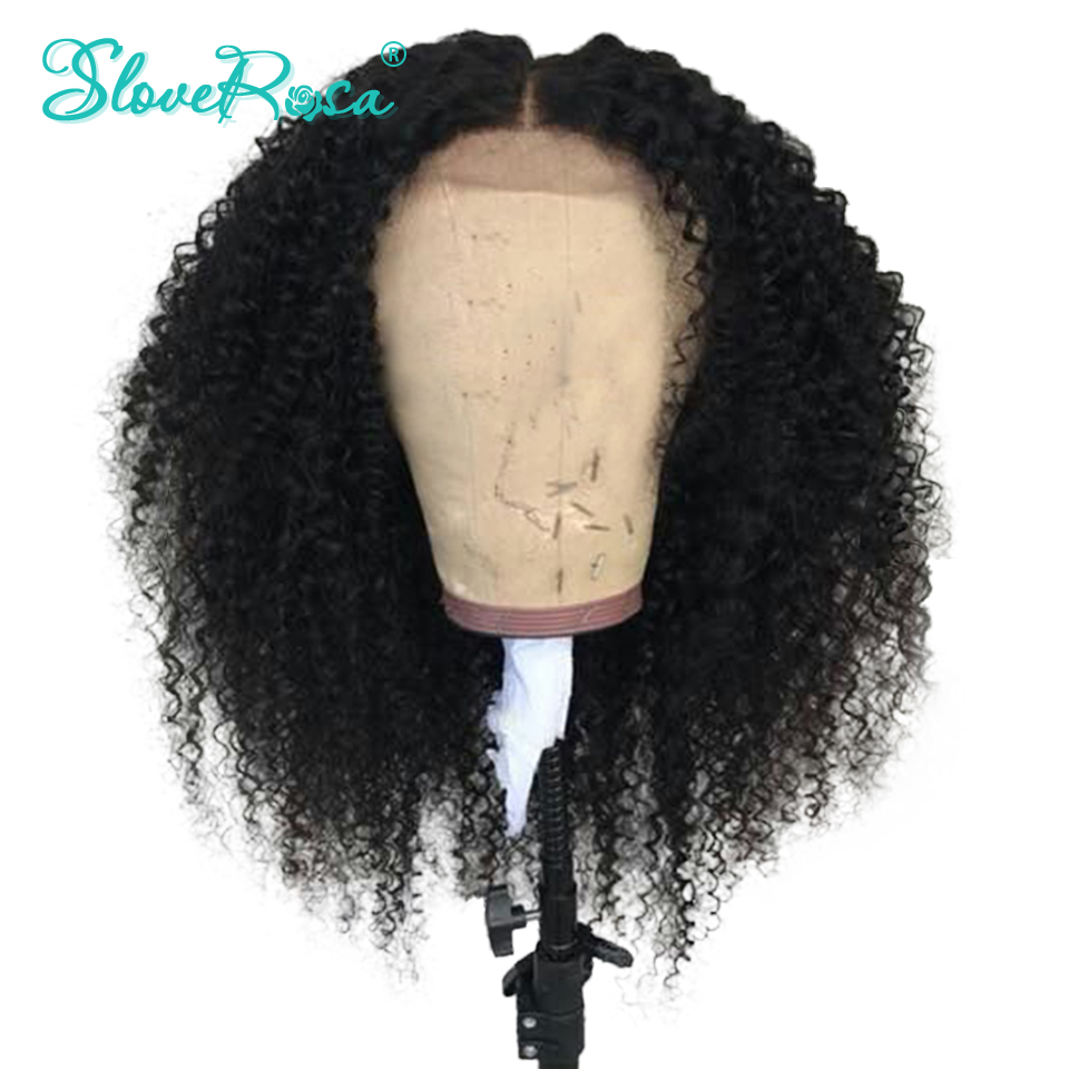 Kinky Curly Full Lace Human Hair Wigs With Baby Hair Brazilian Remy Bleached Knots Natural Black