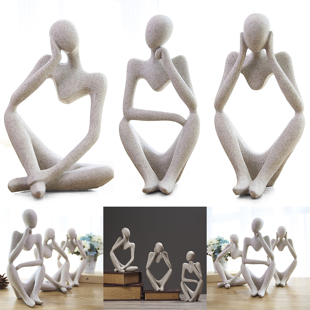 Creative Thinker Home Figure Ornament Toy Figure For Wedding Home Ornament Home Kitchen Table Ornament Accessories New Arrival!