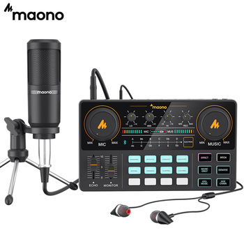 MAONO AU-PM360TR Condenser Microphone 3.5mm to XLR Cardoid Mic With Tripod for Tiktok Podcast Vlog PC Phone Audio Recording 1