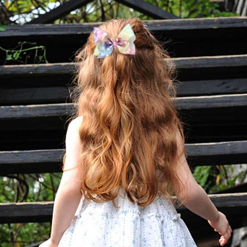 Nuevo 8 pulgadas JOJO SIWA lazo para el pelo grande caja de arco iris moda lazo nudo horquillas regalo de San Valentín