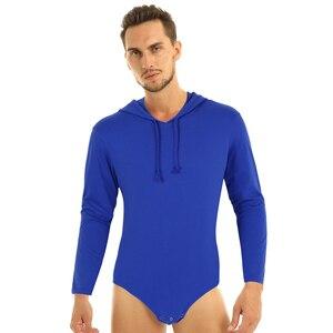 Image 2 - Mannen Een Stuk Lange Mouwen Druk Kruis Hoodie Bodysuit Romper Pyjama