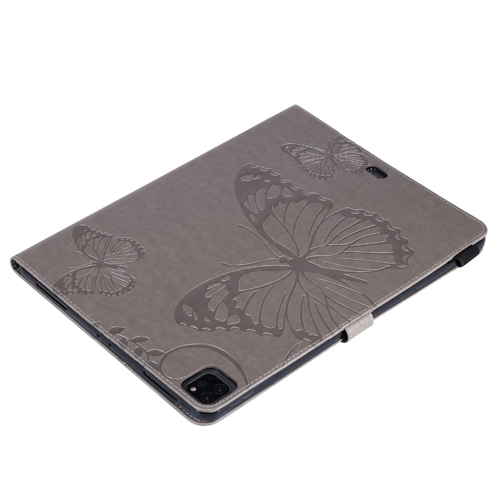 12.9 2020 Cover Folio Butterfly Fundas Folding Embossed Case Tablet 2018 iPad Pro For