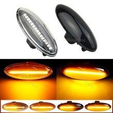 Corpo lateral do carro led dinâmico turn signal luz indicador blinker lâmpada para toyota yaris mk2 p9 rav4 mk3 aca3/ala3 auris mk1 e15 cor