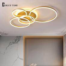 Modern LED Ceiling Light For Living Room Bedroom Dining Room Kitchen Decor Lights Home Lighting AC 110V 220V Ceiling Lamps Gold