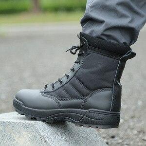 Image 2 - Nam Sa Mạc Chiến Thuật Quân Sự Giày Nam Công Việc Lại An Toàn Giày Zapatos De Hombre Quân Khởi Động Mắt Cá Chân Buộc Dây Chiến Đấu Giày nam Giày