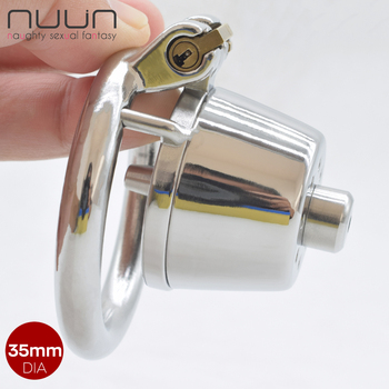 NUUN Lid Male Chastity Cage Device for Men Metal Closed Cock Cage with Urethral Tube BDSM Bondage Penis Rings Mistress Sex Toys 2021 new ht v4 male chastity lock penis cage device cock cage with 4 penis ring bondage fetish adult sex toys cock rings for men