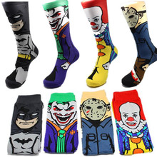 Batman Suicide Squad Stockings Basketball Socks for Men woman Socks long Ankle cosplay Socks breathable soft sliding Stockings(China)