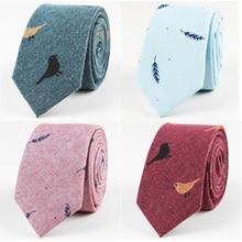 Ricnais Cotton Ties for Mens Animal Printed Skinny Tie Neckt