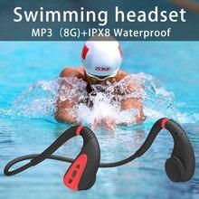 Беспроводные наушники Bluetooth 5,0, уличная Гарнитура костной проводимости для плавания, безболезненная и водонепроницаемая, подходит для Xiaomi ...