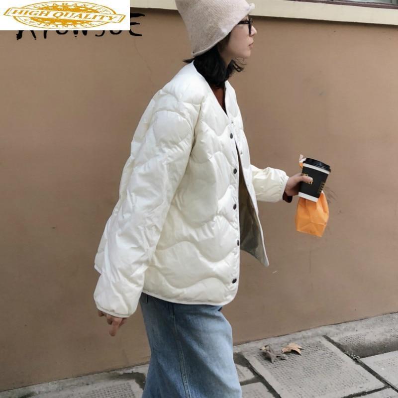 90% White Duck Down Jacket Women Clothes 2019 Winter Coat Women Korean Short Puffer Jacket Women Warm Parka Z0373 YY2125