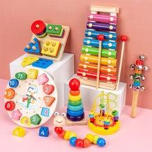 Montessori brinquedos educativos de madeira 3d quebra-cabeças de madeira para crianças brinquedos do bebê montessori brinquedos educativos para bebês montessori quebra-cabeça