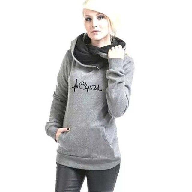 Autumn Winter Hoodies Women Pattern Embroidery Long Sleeve Plus Size Fashion Pullovers Sweatshirt Tops Vintage Warm Hooded 5