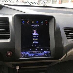 Image 5 - Tesla bildschirm Für Honda Civic 2006 2007 2008 2011 Auto Android Multimedia Player 10,4 inch Auto Radio stereo Audio GPS Navigation