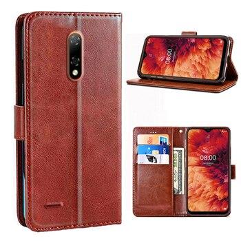 Перейти на Алиэкспресс и купить Чехол для телефона Ulefone Note 8 P, роскошный защитный чехол из ПУ кожи с откидной крышкой, силиконовый чехол для Ulefone Note 8 P, защитный чехол