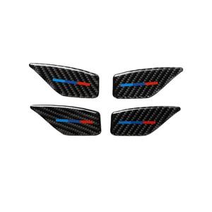 Image 3 - Für BMW 5 Series G30 G38 528i 530i 2018 Carbon Faser Aufkleber Auto Tür Innen Griff Schüssel Abdeckung Auto Aufkleber auto Interior Styling