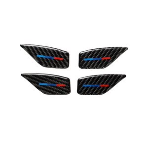 Image 3 - For BMW 5 Series G30 G38 528i 530i 2018 Carbon Fiber Decal Car Door Inside Handle Bowl Cover Car Sticker Auto Interior Styling