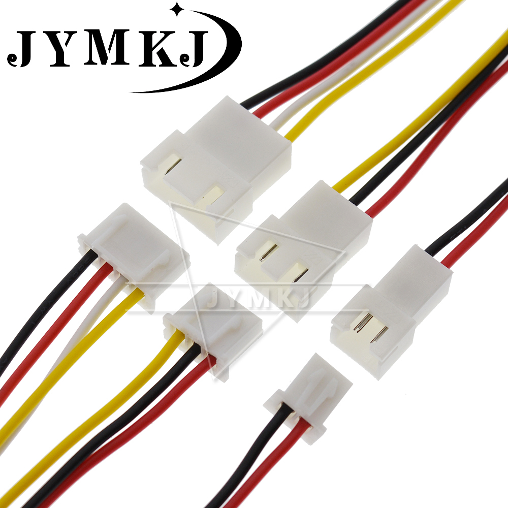 10PCS JST XH2.54 2/3/4/5/6 Pin Pitch 2.54mm Wire Cable Connector XH Plug Male & Female Battery Charging Cable 200MM Length 26AWG