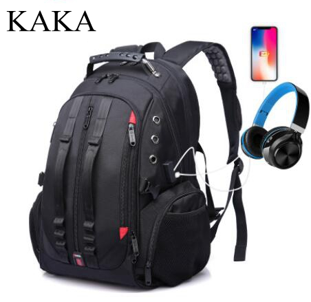 KAKA 17 Inch  Laptop Backpack Large Capacity Men Travel Bag Men Backpack Bag  Business  Men Shoulder Bag Water Proof  Rucksack
