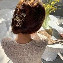 Женские металлические заколки для волос mengjiqiao корейские