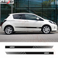 2PCS Auto Sides Skirt Decor Sticker Car Styling Vehicle Side Stripes Sticker Vinyl Decals Wraps Body Graphics For Toyota Yaris|Car Stickers|Automobiles & Motorcycles -