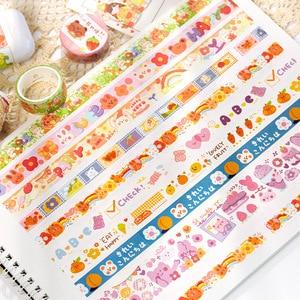 20 шт. васи ленты DIY японская бумага красочные сказочные города маскирующая лента декоративные клейкие ленты Скрапбукинг наклейки