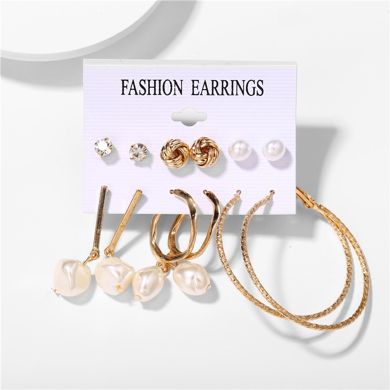 H3cd798488c984f2dbebee9ef0be7a000K - IF ME Fashion Vintage Gold Pearl Round Circle Drop Earrings Set For Women Girl Large Acrylic Tortoise shell Dangle Ear Jewelry