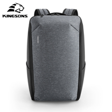 Kingson متعددة الوظائف الرجال 15 بوصة محمول حقائب الظهر موضة مقاوم للماء حقيبة السفر مكافحة سرقة الذكور Mochila الحقائب المدرسية الساخن