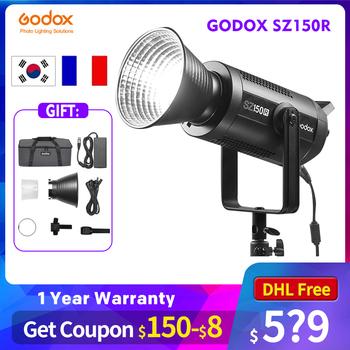 Godox SZ150R RGB światło LED do kamery (2500-6500K 150W) do studia fotograficznego tiktok na żywo youtube PK Godox SL150W II Aputure Jinbei tanie i dobre opinie CN (pochodzenie) Bi-color 3200 K-5600 K Aputure LS120D photography Photo studio Live