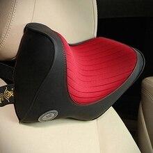 Reposacabezas de coche almohada de cuello para asiento en Auto memoria de espuma de algodón cojín de tela suave cabeza resto Oficina de viaje apoyo
