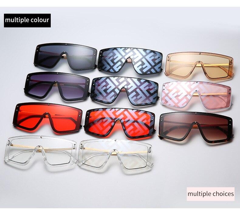 Oversized butterfly Sunglasses Women Luxury Brand Fashion Flat Red Black Clear Lens One Piece Men Gafas Shade Mirror UV400 CLOVER JEWELLERY