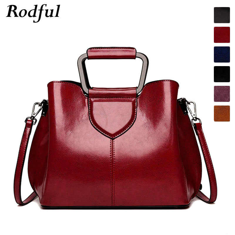 Fashion female tote shoulder bag women's genuine leather handbags ladies china high quality hand bags for women 2019 black wine